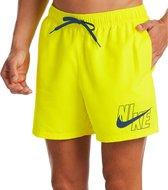 Nike Zwembroek - Maat XL  - Mannen - geel/ donkerblauw