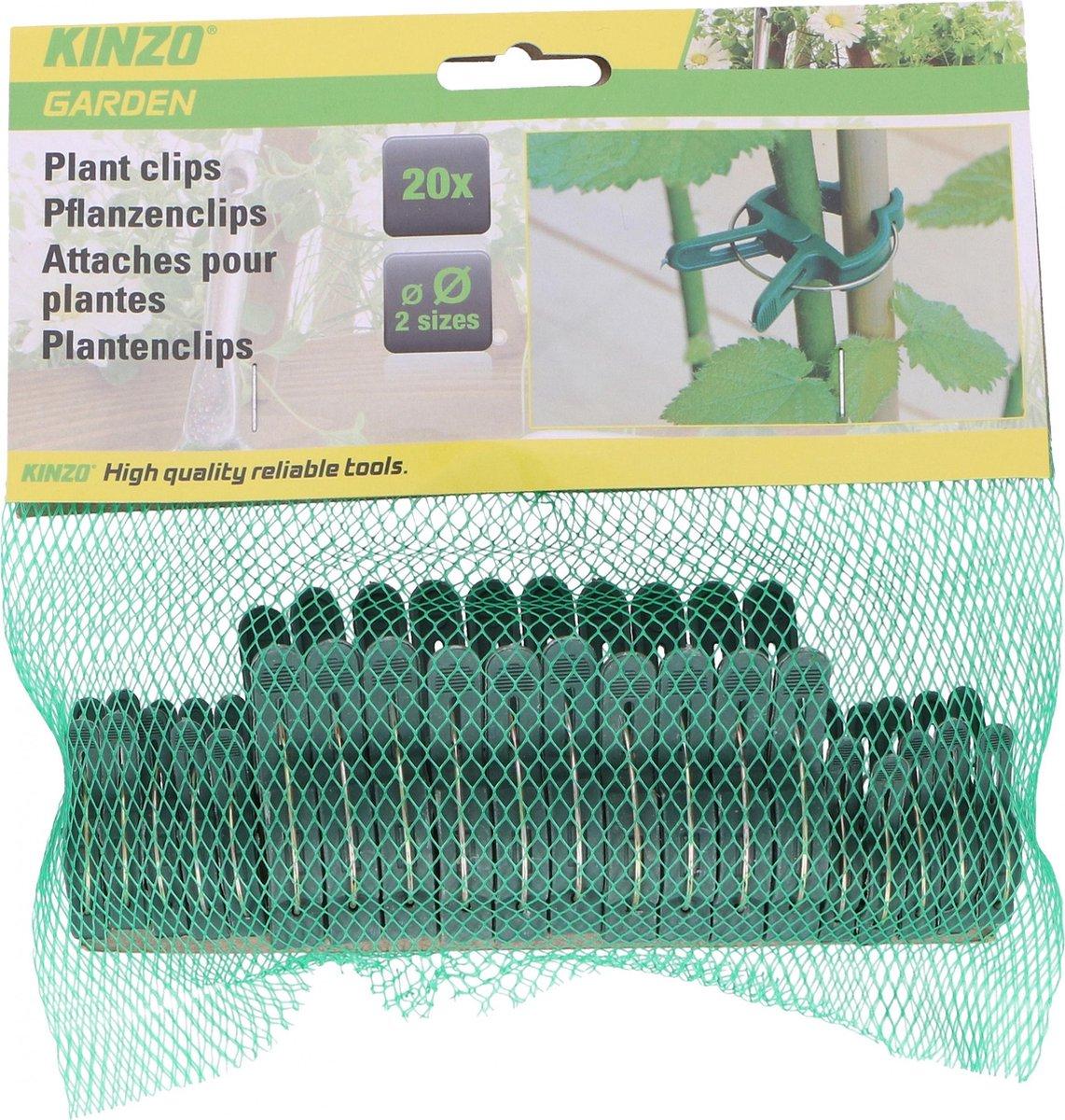 Kinzo Plantenclips Groen - 20 Stuks