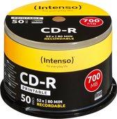 Intenso CD-R 700MB/80 Min. Cakebox, bedruckbar [50 Disc]
