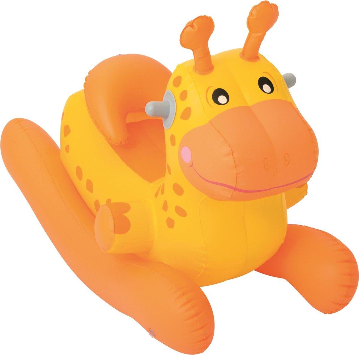 Bestway Opblaasdier Giraffe 74 X 43 X 63 Cm Oranje