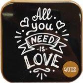 Spel - Lovegame - All you need is love - Vragenspel in blikje
