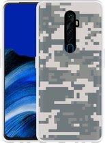 Oppo Reno 2Z Hoesje Army Digi Camouflage