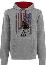 Assassins Creed III - Grey.flag.Hoodie - L