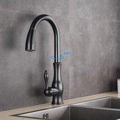 SelectGoodz - Keukenkraan - olie gewreven brons – kraan – mengkraan – klassiek design kraan – uittrekbare uitloop