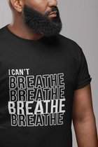 Awareness Shirt BLM Movement | Stop Racisme | Black Lives Matter | In opstand | George Floyd | Maat L Zwart
