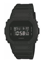 Casio - DW-5600BB-1ER - G-Shock - horloge - Mannen - Zwart - Kunststof Ø 35x42 mm