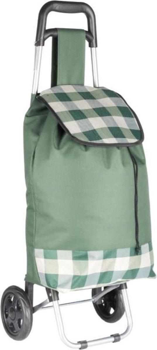 Tom Boodschappentrolley Dames 94 Cm Textiel/rvs Groen