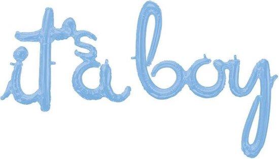 Amscan Ballon It's A Boy 68-73 Cm Folie Blauw