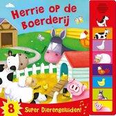 Boek cover 8 geluiden  -   Herrie op de boerderij van