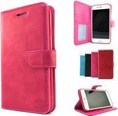 HEM iPhone SE 2020 Roze Wallet / Book Case / Boekhoesje/ Telefoonhoesje / Hoesje iPhone SE 2020 met vakje voor pasjes, geld en fotovakje  SE 2020, dus geschikt voor de nieuwe iPhone SE 2020