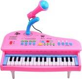 Roze Kinderpiano - Met microfoon - 37 keys Multifunctioneel Keyboard - Meisjes - Educatief speelgoed - Kinder piano