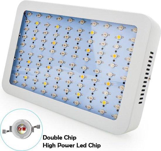Hydrotec LED Kweeklamp 1000 Watt - Full Spectrum LED Groeilamp en Bloeilamp in 1