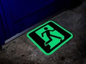 Nooduitgang pictogram glow-in-the-dark Wit  x  x