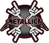 Metallica Patch Metal Horns Multicolours
