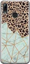 Huawei P Smart 2019 siliconen hoesje - Luipaard marmer mint
