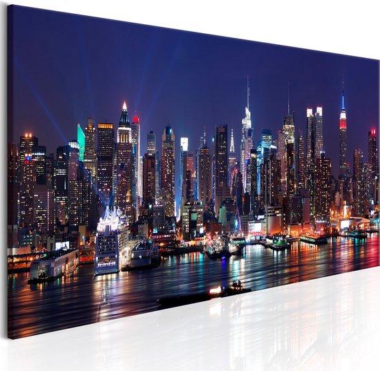 Schilderijen Op Canvas - Schilderij - Live by Night 120x40 - Artgeist Schilderij