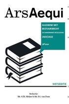 Ars Aequi Wetseditie  -   Algemene wet bestuursrecht 2021-2022