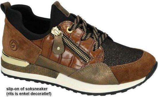 Remonte -Dames – cognac/caramel – sneakers – maat 41