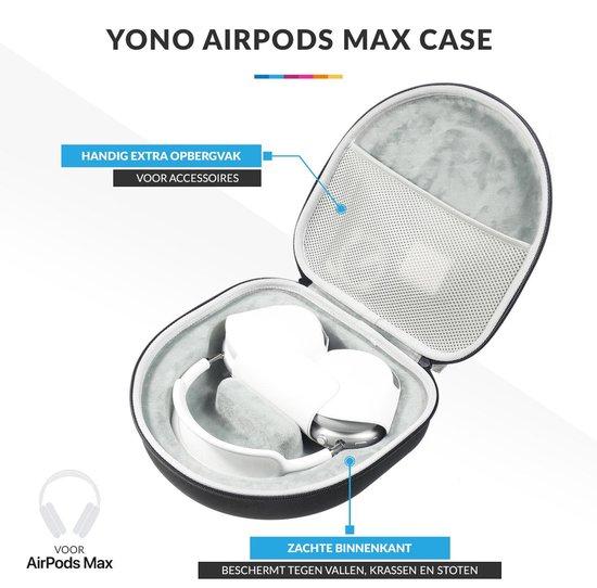YONO AirPods Max Case – Beschermhoes – Hardcover – Travel Hoesje – Koptelefoon Hoes - Zwart