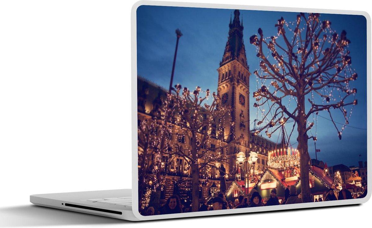 Laptop sticker - 11.6 inch - Kerstmarkt in de Hamburg Rathaus-markt