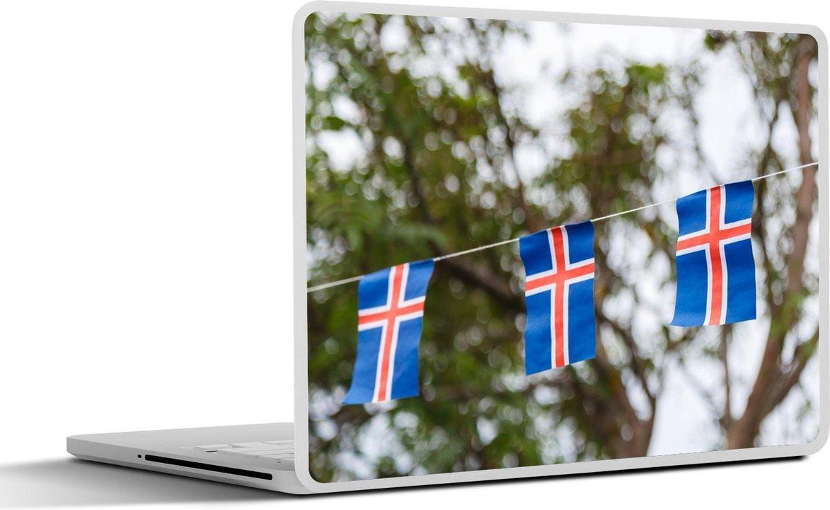 Laptop sticker - 13.3 inch - Nationale vlaggetjes van IJsland