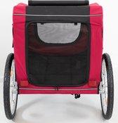 Trixie Hondenfietskar Zwart / Rood - 80X75X86 CM