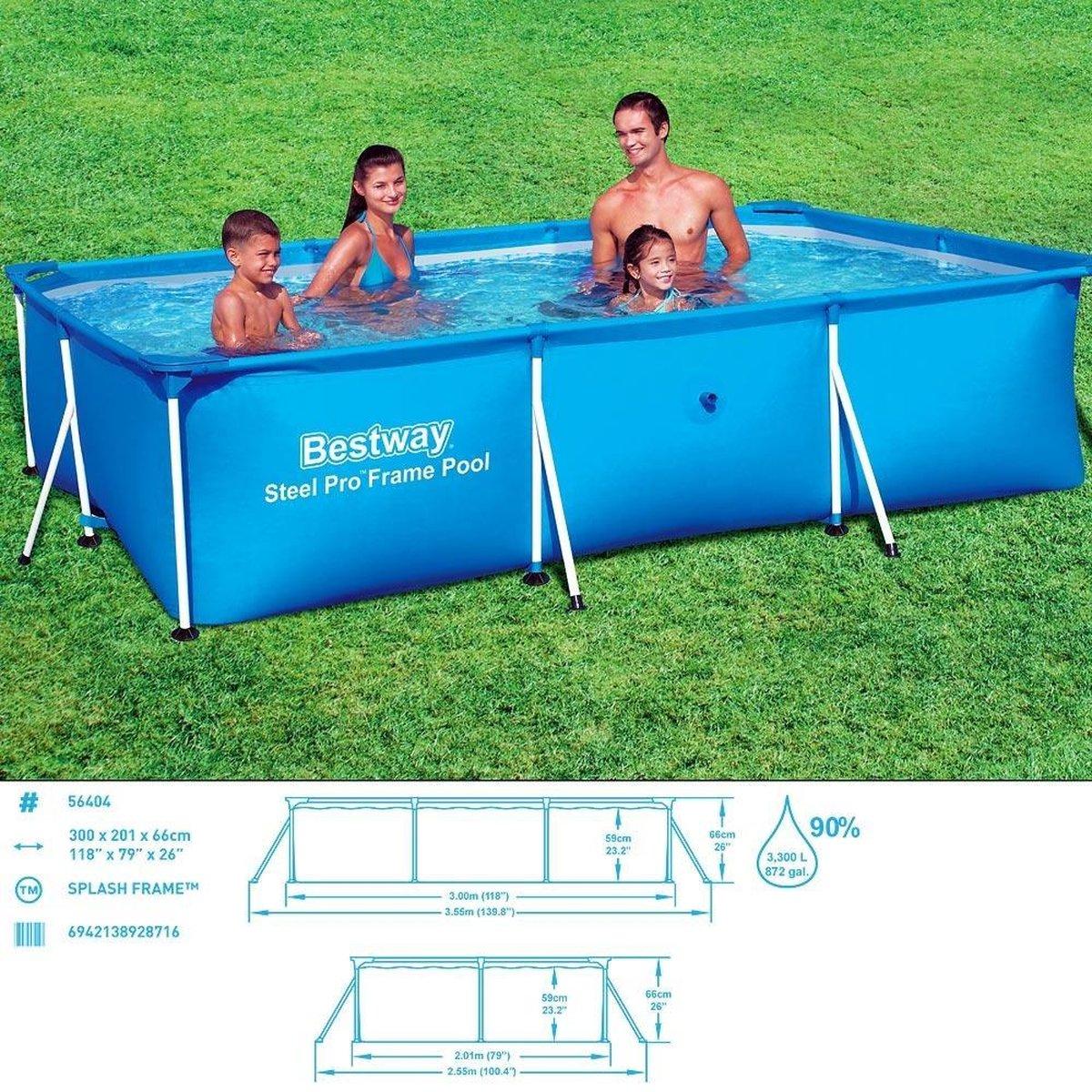 Bestway Frame Zwembad Deluxe Splash Steel Pro™ 300x201x66cm