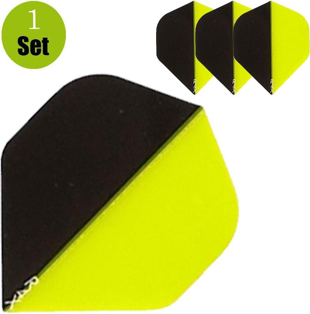 Ruthless Duo Color Dartflights - Zwart - Geel- ()