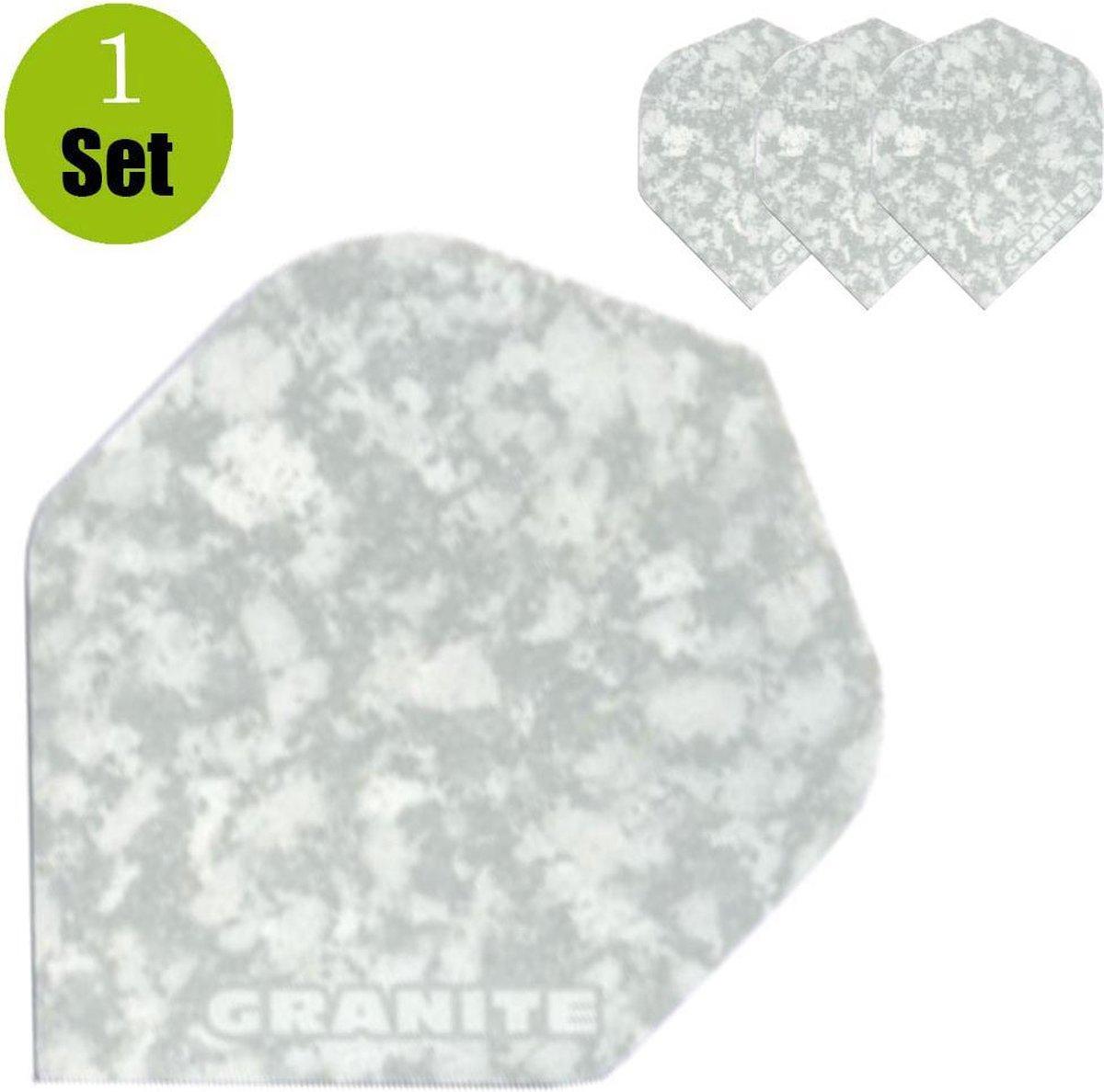 Granite Dart Flights - Wit- ()