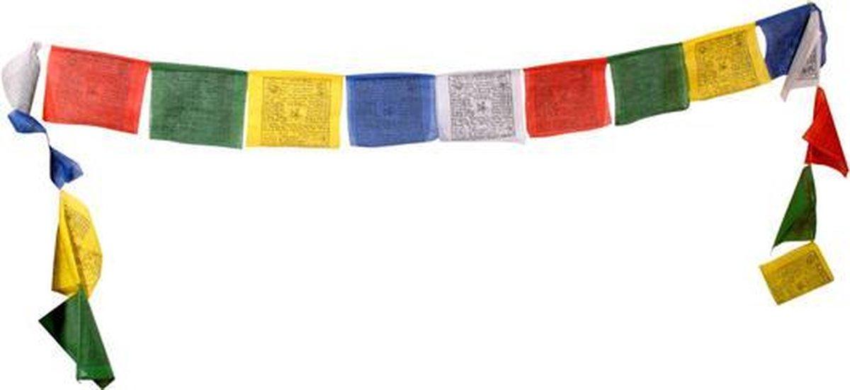 bol.com | Gebedsvlaggenkoord Tibetaans - 12.5x12.5x120 - Katoen (10 stuks)  - S
