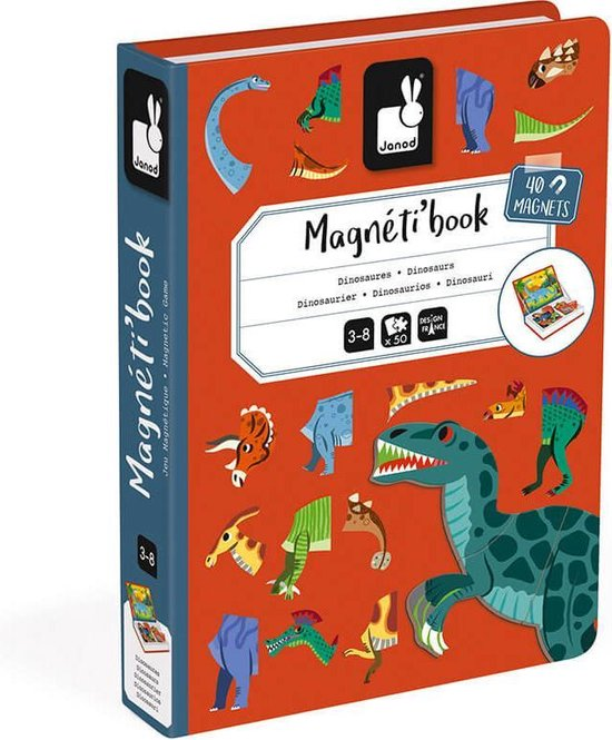 Janod Magnetibook - Dinosaurus