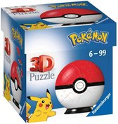 Ravensburger 3D Puzzel Pokémon Pokéball Rood/Wit - 54 stukjes