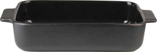 Gusta Ovenschaal 22,8x13,5x4,5cm Zwart