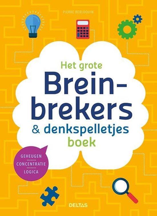 Afbeelding van Het grote breinbrekers & denkspelletjes boek