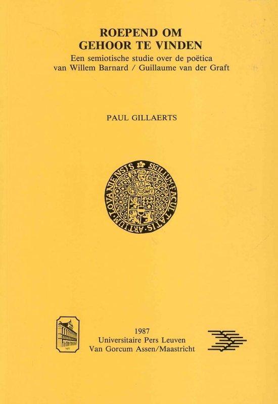 Boek cover Roepend Om Gehoor Te Vinden van P Gillaerts (Hardcover)