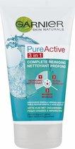 Garnier Skinactive Face PureActive 3-in-1 met Klei Argile voor de Gemengde Huid met Onzuiverheden - 150ml - Reiniging, Scrub, Masker