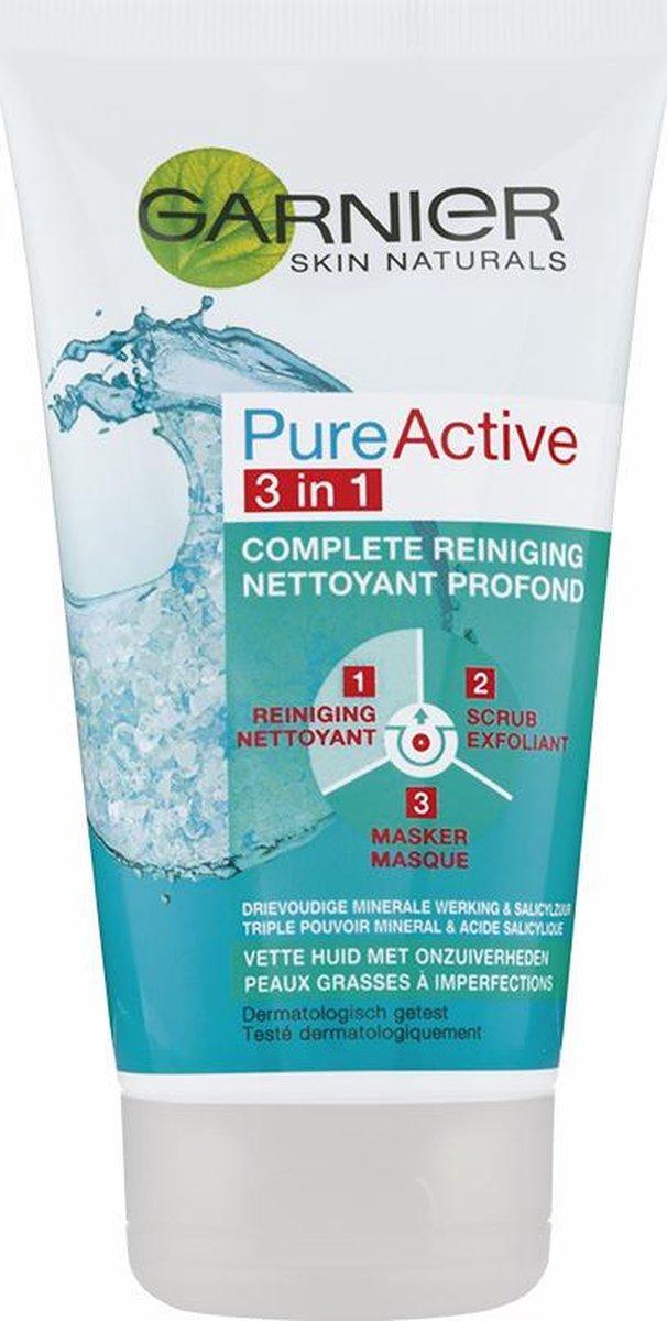 Garnier Skinactive Face PureActive 3-in-1 met Klei Argile voor de Gemengde Huid met Onzuiverheden -