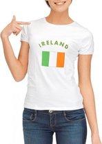 Wit dames t-shirt Ierland XL