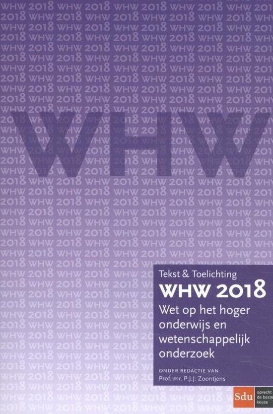 Boek cover Tekst & Toelichting  -   WHW 2018 van P.J.J. Zoontjens (Paperback)