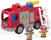 Fisher-Price Little People Grote Brandweerauto - Speelfigurenset