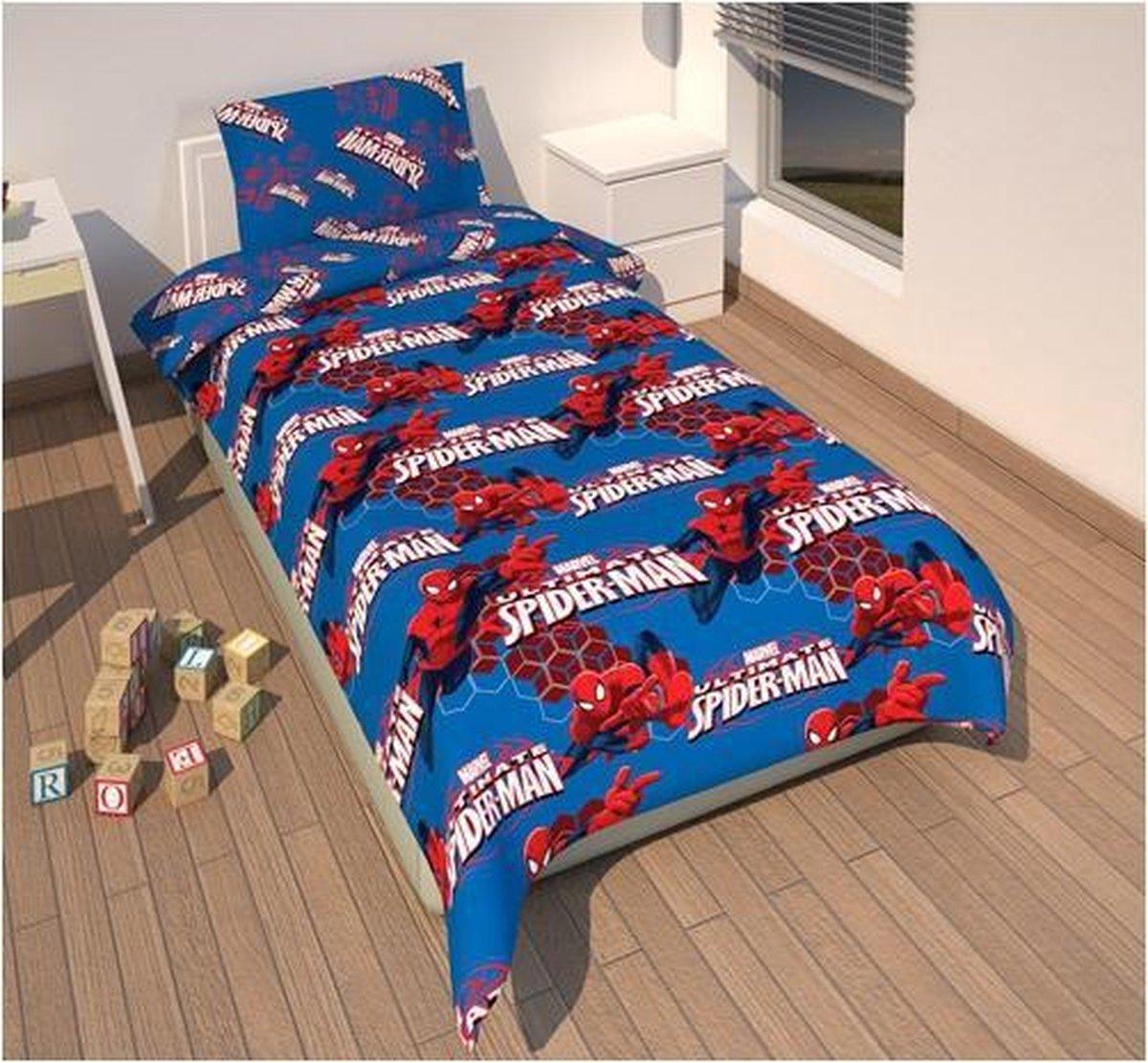 Spiderman dekbedovertrek jongens blauw 135 x 200 cm - Marvel
