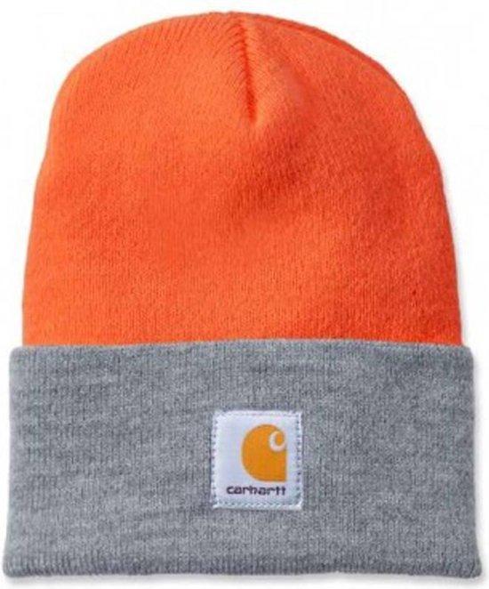 Carhartt Muts ACRYLIC WATCH HAT oranje/grijs -Beanie