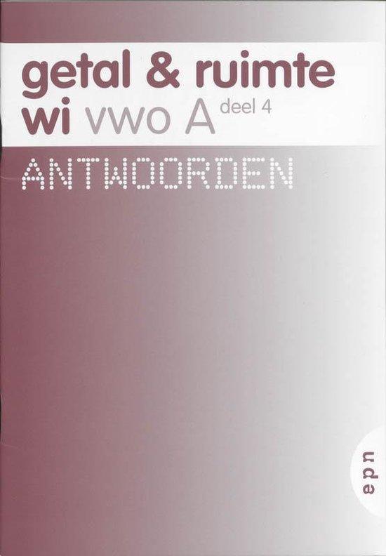 Getal en Ruimte / Vwo A deel 4 / deel Antwoorden - Diverse auteurs pdf epub