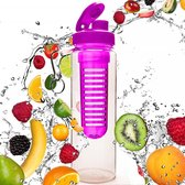 #DoYourFitness Fruitwater Drinkfles - »FruitInfusior« - 800ml - Pink