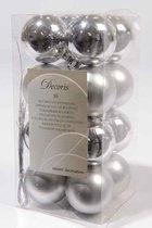 Decoris kerstballen – 16 stuks – kunststof - 4cm