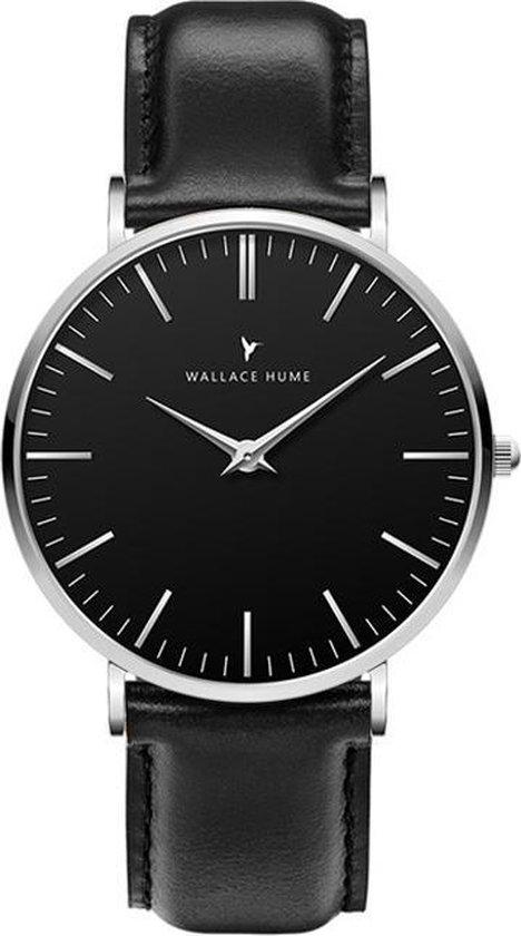 Wallace Hume Zwart – Horloge – Leer – Zwart