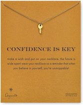 Confidence is Key Ketting Zelfvertrouwen Ketting