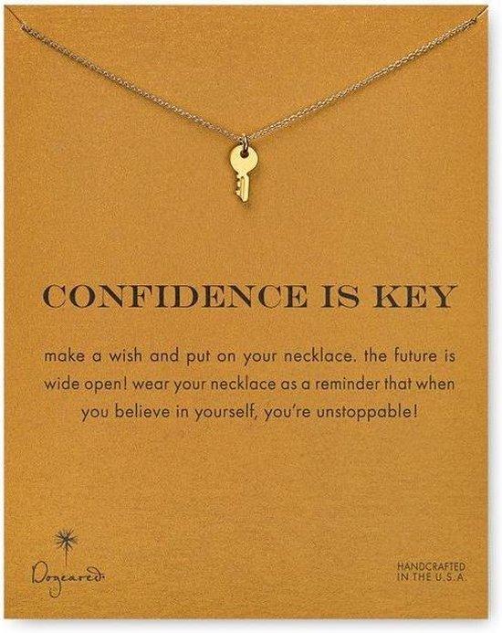 Confidence is Key Ketting Zelfvertrouwen Ketting
