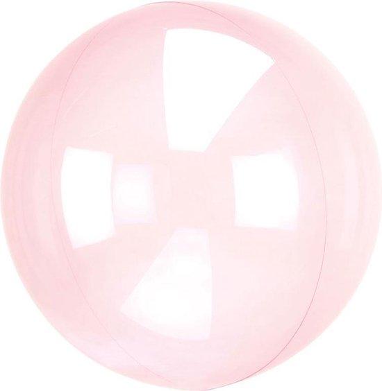 Ballon Orb Crystal Donker Roze - 46 Centimeter