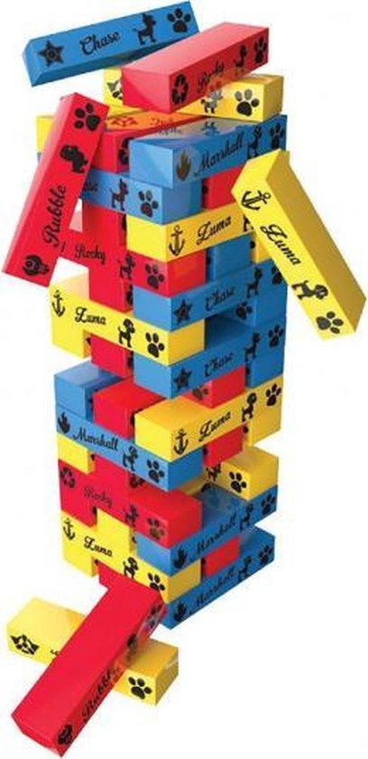 Afbeelding van het spel stapeltoren Paw Patrol 7,9 x 28 cm hout 49-delig